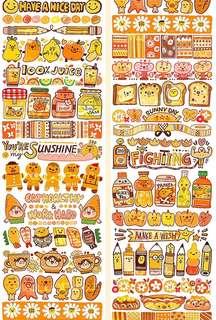 (Instock) *Exclusive* Swirls of Orange Washi Stickers