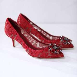 Authentic DOLCE&GABBANA Kitten heels - Dark Red