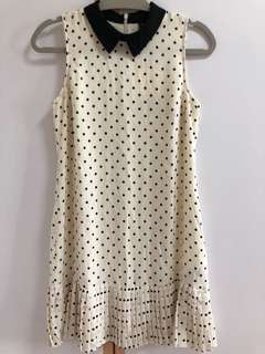BNWT GG5 polka dot dress (black white)