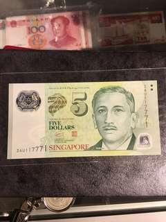 S.g$5-3AU117771✌️UNC