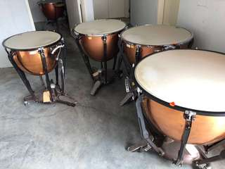 Selling ludwig timpani full set copper + fibreglass