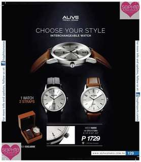 Interchangeable Watch Alive French Design