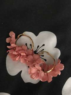 REPRICED!! Floral hoop earrings