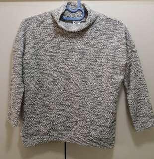F&F Gray/White Knitwear