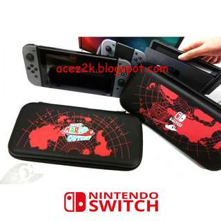 [BN] Nintendo Switch Zelda / Mario / Monster Hunter Deluxe Carrying Travel Case with 3 Cartridges Slots (Brand New)