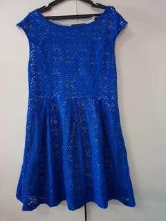 Royal Blue Dress (Plus Size)