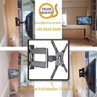 TV Bracket Single Arm Full Motion Wall Mount (Ready Stock in Singapore)