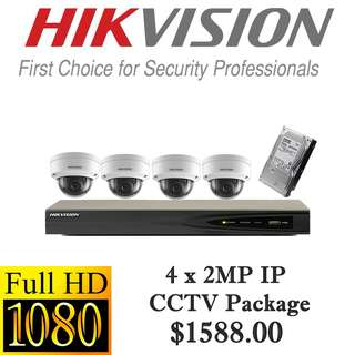 HIKvision 1080P Internet Protocol CCTV Package 4