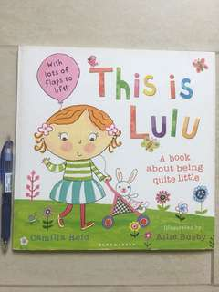 This is LuLu - a lift-the-flaps book about being little