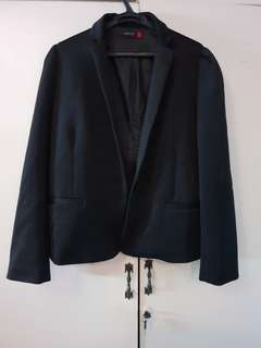 Black Office Blazer (Plus Size)