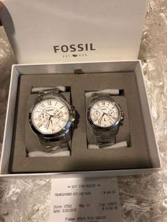 Original Fossil Couple Watch with FREE ENGRAVE AT THE BACK for preorder in US