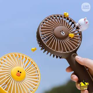 LINE FRIENDS BROWN SALLY USB 迷你風扇 PORTABLE FAN