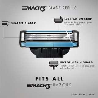 Gillette MACH 3 Blade Refills x 4 per packet