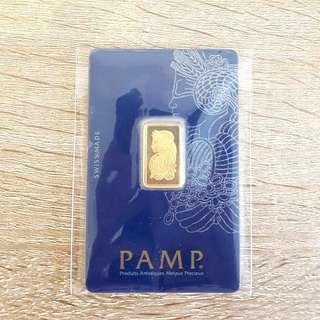 5g PAMP Gold bar