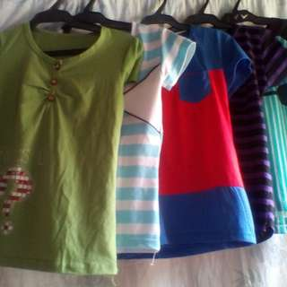 Blouse and t-shirts