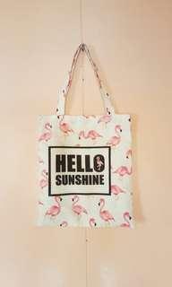 Miniso Flamingo Tote Bag