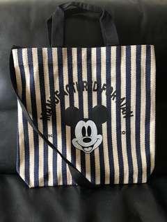 (New) Made in Korea Mickey Stripe Causal Bag