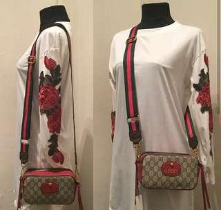 Gucci Supreme Web Shoulder Bag
