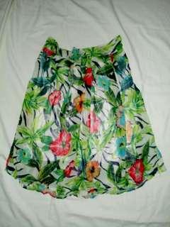 Floral highwaist skirt