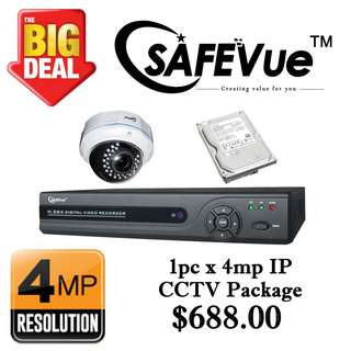 SafeVue 4MP Internet Protocol CCTV Package 1