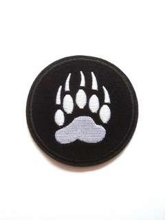 Bear Paws Print Iron On Patch
