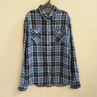 Zara Young Blue Tartan Shirt