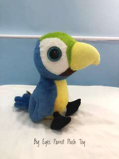 Big Eyes Parrot Plush Toy