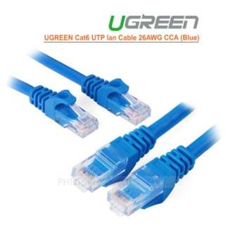 UGREEN Cat6 UTP lan cable blue color 26AWG CCA 20M 11206