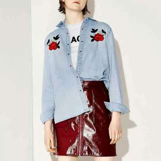 Embroidered Demin Top