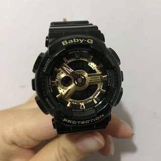 G-shock(Baby-G)黑色手錶BA-110GB (女)
