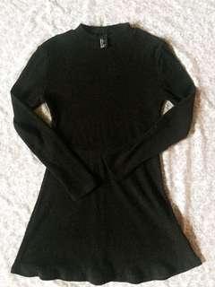 Forever 21 Black Turtle Neck Dress