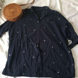 Glassons moon and star linen top