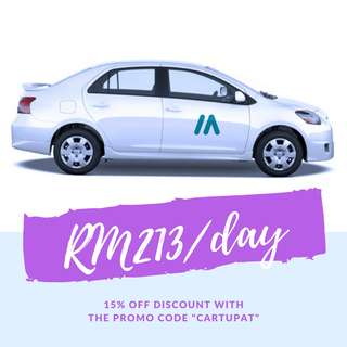 PROMOTION! Toyota Vios RM213/day