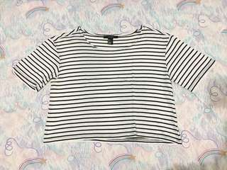 Forever 21 stripe cropped top