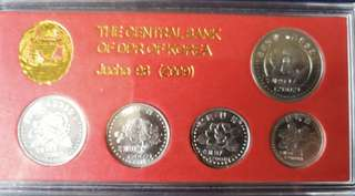 """⭐️The Central Bank  Of DPR Of Korea Specimen Coin Set!  2002 North Korea 🇰🇵 """" Specimen """" Coin Set, 朝鲜 """"样币"""" Not The Normal Circulation Issue You Will Find ⭐️"""