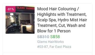 FAVE Voucher - Hair colouring/highlights with treatment