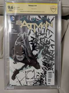 Batman #44 CBCS 9.6 - signed and sketched by both Scott Snyder and Jock!