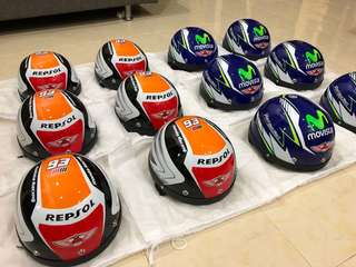 HELMET MHR REPSOL & MOVISTAR LIMITED EDITION