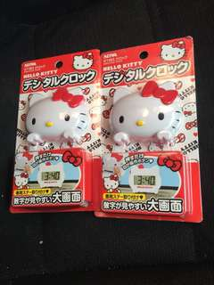 Hello kitty digital clock for car accessories