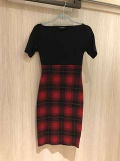 Miss Selfridge Plaid Bodycon Dress