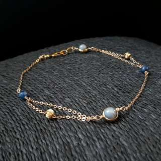 HANDMADE! Crystal Anklet A60010
