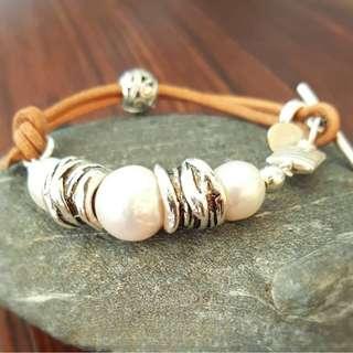 HANDMADE! Genuine Pearl Bracelet 40020