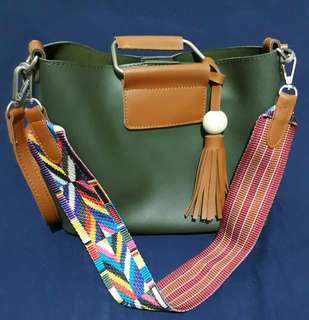 SLING BAG WITH AZTEC STRAP
