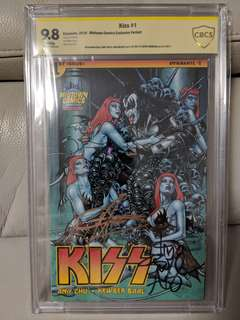 KISS #1 Midtown Variant (The Demon) CBCS 9.8 Triple Signed! Gene Simmons