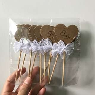 """""""I DO"""" Cupcake toppers"""
