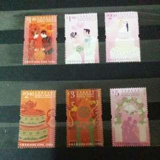 香港通用郵票(婚嫁)