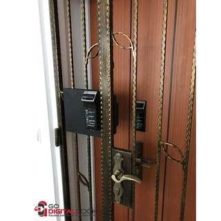 Gateman WF-20 Fingerprint Digital Lock for Main Door and Metal Gate at $750 (Free digital viewer)