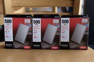 Sony 500 GB External Hard Drive HD-EG5