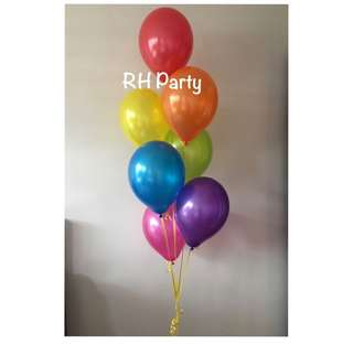 (12/6) Helium Latex Bouquet (Rainbow / Assorted colours theme)