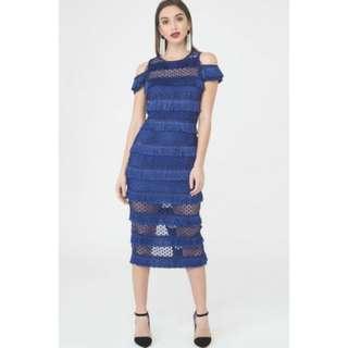 Lavish Alice Raya Lace Fringe Midi Dress